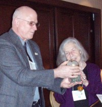 Ms. Jennifer Davis received the 2009 Faith & Justice Award at AFJN's annual member meeting and reception in March. AFJN's Board Chair Fr. Chris Promis remarked on Jen's work: